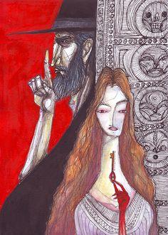 Henrique Vieira - ilustrações, estudos e esboço barba azul