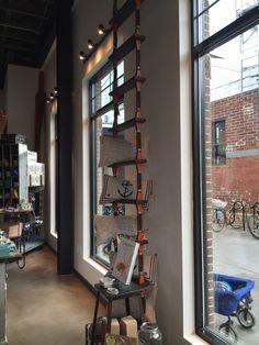 The Merchant at Krog Street Market Dec. 2015 Image credit B. Store Displays, Display Shelves, Visual Merchandising, Ladder Decor, Atlanta, Road Trip, Retail, Street, Image