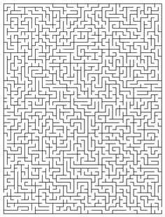 Hard Mazes, Difficult Puzzles, Maze Puzzles, Logic Puzzles, Maze Drawing, Printable Mazes, Printables, 252 Basics, Maze Worksheet