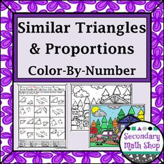 similarity similar triangles and proportions color by number worksheet triangles student. Black Bedroom Furniture Sets. Home Design Ideas