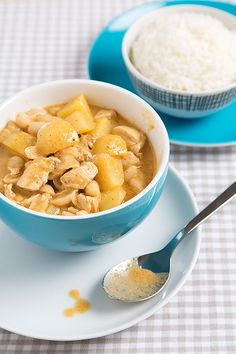 Chicken Massaman Curry! Bruce's favorite dish! I substitute peanut butter for the peanuts and Red curry paste for the Massaman paste in a pinch.