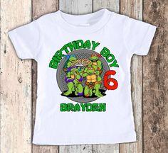 Teenage Mutant Ninja Turtle TMNT designed birthday t shirt tshirt personalized by faboodles on Etsy https://www.etsy.com/listing/509033373/teenage-mutant-ninja-turtle-tmnt