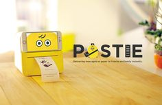 POSTIE, an IoT device, personal messenger. (UX design by HACKist, HAKUHODO i-studio)