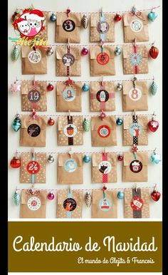 35 DIY Advent Calendar Ideas Anyone Can Make. These easy ideas are so clever, definitely pinning! DIY your very own homemade Christmas advent calendar and add some more festive decorations to your home! Christmas Countdown, Christmas Calendar, Christmas Love, All Things Christmas, Christmas Holidays, Christmas Decorations, Homemade Christmas, Christmas Tables, Magical Christmas