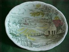 Your place to buy and sell all things handmade Alfred Meakin, Hand Engraving, Vintage China, Serving Bowls, England, Scene, Pottery, Plates, Dishes