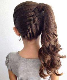 Frisur Ideen Mittelhaare – Neu Haare Frisuren 2018 in 2020 Braided Hairstyles For School, Prom Hairstyles For Long Hair, Flower Girl Hairstyles, Braids For Short Hair, Little Girl Hairstyles, Easy Hairstyles, Hairstyle Ideas, Wedding Hairstyles, Girls Hairdos