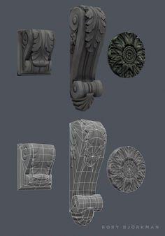 2 Modular Corners on Behance Maya Modeling, Surface Modeling, Modeling Tips, Concept Art Tutorial, 3d Tutorial, Polygon Modeling, Hand Painted Textures, 3d Mesh, Modelos 3d