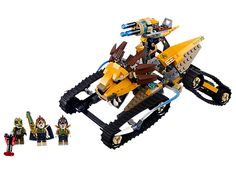 Crush the croc attack with Laval's Royal Fighter!  David would love these tires! Don't have very many Chima sets. #LegoChima #70005