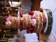 3 Tier, 9 sponge victoria sandwich wedding cake! My first one!