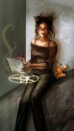 Modern Computer Witch by ~darcyred on deviantART