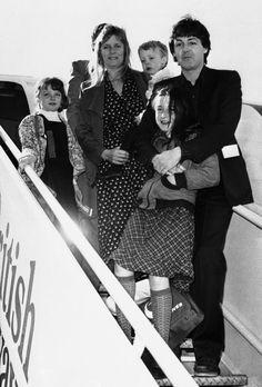 Beatle Paul and beautiful Family.