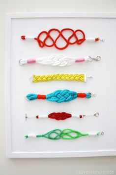 Nautical Rope Bracelets #lunera