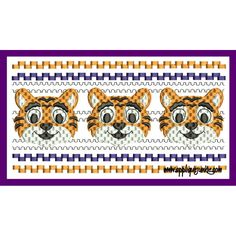 Faux Smocked Tigers Embroidery Design / Applique Junkie