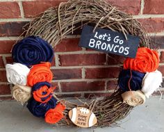 Hey, I found this really awesome Etsy listing at https://www.etsy.com/listing/177160595/denver-broncos-super-bowl-wreath
