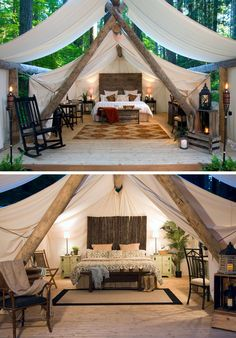 10 Glamping Destinations For People Who Want To Go Camping But Need The Luxuries Of A Hotel // Pampered Wilderness – Millersylvania State Park, Washington, USA // Located within the campgrounds of Millersylvania State Park, and not far from Olympia, thes Zelt Camping, Camping Glamping, Camping Hacks, Outdoor Camping, Outdoor Travel, Camping Stuff, Camping Meals, Camping Desserts, Camping Table