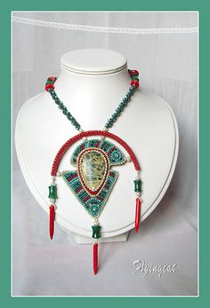 An ethnic handmade necklace