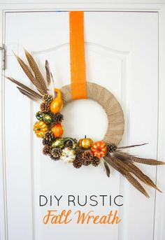 DIY Rustic Fall Wreath | Design Improvised