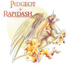 Rapidash x Pidgeot by Seoxys6