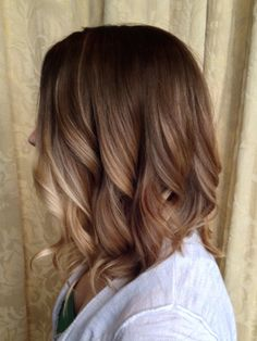 Blonde Balayage on brown hair. Perfect way to go bronde for fall and winter 2015. View more at facebook.com/designedbyannie