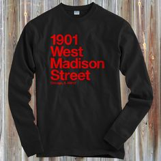 Kids Chicago Basketball and Hockey Stadium - Long Sleeve T-shirt - S M L XL - Chicago LS Tee - 4 Colors - CBHS