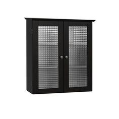 Amazon.com - Elegant Home Fashions Chesterfield Collection Wall-Mount Medicine Cabinet with Tempered-Glass Doors, Espresso - Bathroom Cabinets