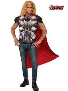 the mens avengers 2 thor costume top is the perfect 2018 halloween costume for you show off your mens costume and impress your friends with this top