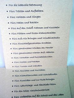 Danke & Abschied vom Kindergarten (Diy Ideas For Kids)