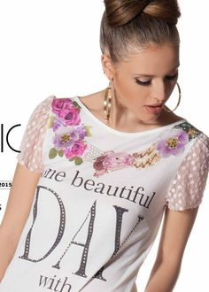 Flower t-shirt www.marikacostantino.it Shop Online