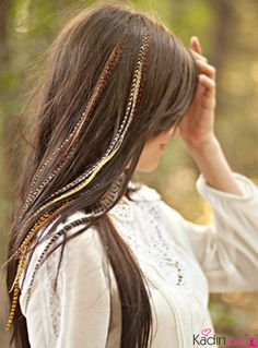 X-Long Junkie Feather Extensions Feathered Hairstyles, Pretty Hairstyles, Feather Extensions, Hair Extensions, Hair Tinsel, Medium Hair Styles, Long Hair Styles, Hippie Hair, Hair Locks