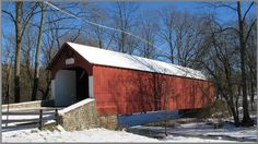 Knecht's Covered Bridge,  Bucks County, Pennsylvania.