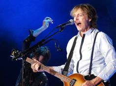 Paul McCartney performs at Target Field in Minneapolis on Aug. 2, 2014.