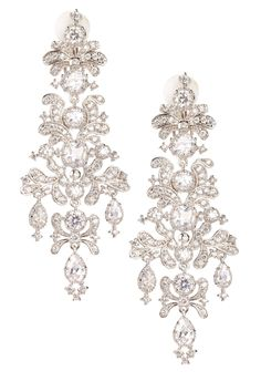 Cz By Kenneth Jay Lane Edwardian Inspired Chandelier Earrings Wedding Bridal
