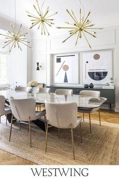 Minimalist Interior, Minimalist Home, Luxury Dining Room, Vanity Decor, Dining Room Walls, Deco Table, Dining Table, Room Decor, Interior Design