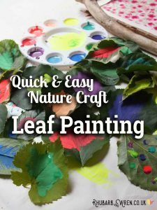 Leaf Painting Quick And Easy Nature Craft Exploring Nature