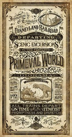 "Steampunk meets Disney-Mechanical Kingdoms ~ Steam-Driven Visions of a Victorian Future Art to Debut at Disney Parks ""Primeval World - Rotulação Vintage, Vintage Labels, Vintage Ephemera, Vintage Prints, Vintage Posters, Vintage Graphic, Vintage Disney, Pin Up Retro, Steampunk Bedroom"