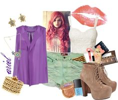 """ariel"" by s0phi ❤ liked on Polyvore"