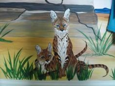 """""""Wild African Cats"""" #Creative #Art in #painting @Touchtalent"""