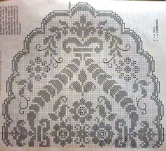 Very Beautiful Filet Crochet Decorative - Page 2 of 2 - Crochet Filet Filet Crochet Charts, Crochet Motifs, Crochet Borders, Crochet Stitches, Crochet Patterns, Art Au Crochet, Crochet Cross, Crochet Home, Easy Crochet