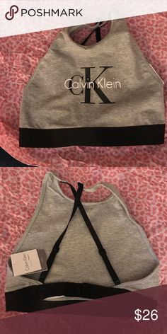 New💥 Calvin Klein Sports Bra Size: small🌟Criss cross straps in the bac🌟only selling🌟Hit the offer button for price negotiations Calvin Klein Collection Intimates & Sleepwear Bras