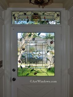 Beveled glass and roses