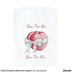 Browse Zazzle for a variety of wedding favor bags. Start shopping our great selection & find a design for your favor bags today! Romantic Wedding Favours, Wedding Favor Bags, Red Love Heart, Hearts, Bows, Pink, Color, Arches, Bowties