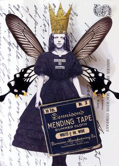 Mender of Things by Stephanie Rubiano . she speaks to me . Mixed Media Journal, Mixed Media Collage, Paper Collage Art, Paper Art, Michelangelo, Atc Cards, Assemblage Art, Artist Trading Cards, Art Journal Inspiration