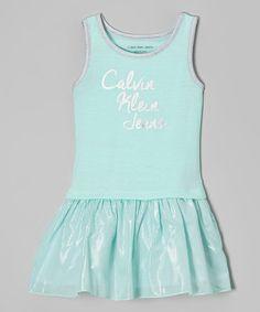 Calvin Klein Jeans Mint Logo Dress - Infant, Toddler & Girls | zulily
