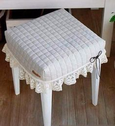 Модная одежда и дизайн интерьера своими руками/ МК Шьем аккуратные накидки в стиле рустик на стулья.