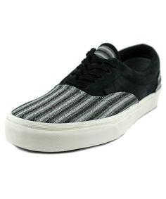 7ea0ab8be1 Vans Era Ca Italian Weave Nubuck Black Mens Lace Up Sneakers