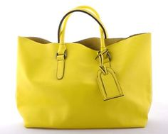slouchy, bright yellow leather bag from local brand Katre