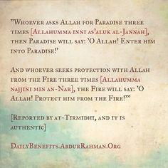 Ya Allah please grant me Jannah