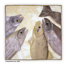 Velda Newman-Gallery, Catch of the Day Red Fish Blue Fish, Big Fish, Animal Quilts, Little Fish, Contemporary Quilts, Textile Art, Reptiles, Tuesday, Salmon