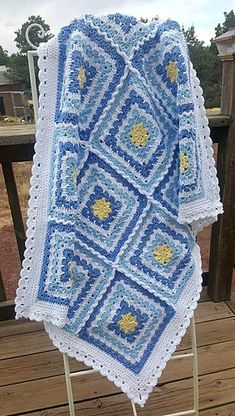This is the crochet pattern for the Mother's Heartbeat Baby Blanket. This includes pattern for the granny square, instructions for how to join the squares, and for adding the border.