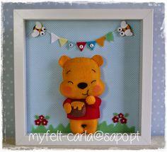 Quadro com o Winnie the Pooh em feltro!